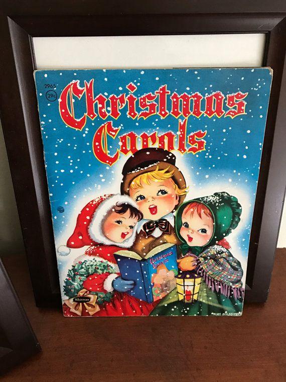 Vintage Christmas Carols song book Whitman by DustBunnyEmporium