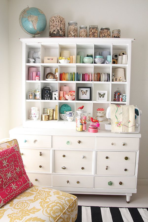 Craft storage. I'm dreaming a little dream.