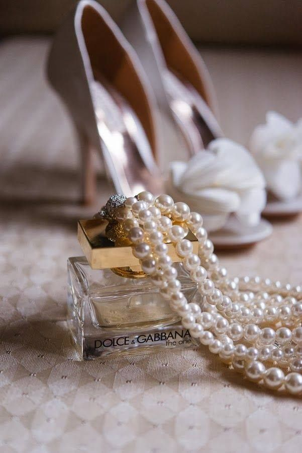 Wedding Photography: Picture of the perfume you wore that day and shoes and accessories
