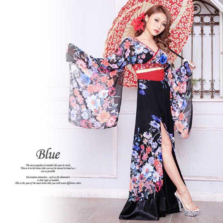 花魁風着物ロングドレス