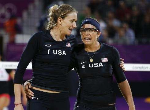 USA Beach Volleyball-Misty May Treanor and Kerri Walsh Jennings. Going for gold medal #3!!!