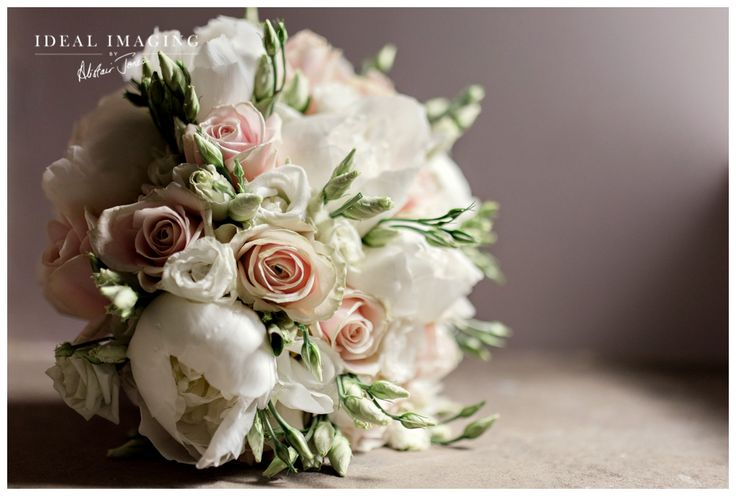 The Elvetham Hotel Wedding Photography - Caroline & Alan Pink and white bouquet.