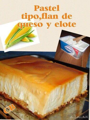 Flan de queso y elote