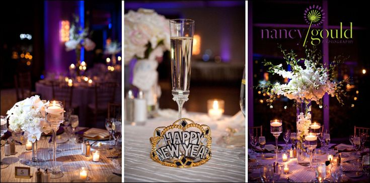 Fun details for a New Year's Eve wedding at our hotel. Are you getting married in Boston? We'd love to chat about our beautiful spaces with stunning Boston skyline views! http://nancygould.com/jessica-jason-royal-sonesta-hotel-cambridge-ma