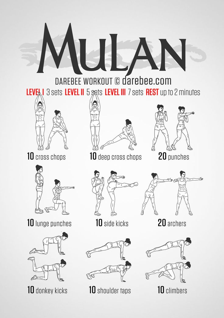 Mulan fitness workout.