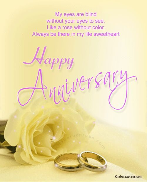Wedding Wishes English: Happy Wedding Anniversary Cards