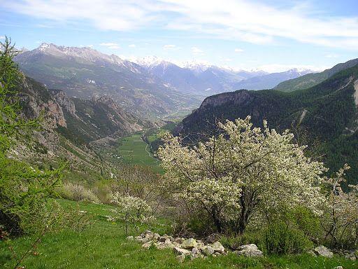 Vue de la vallée de Freissinières
