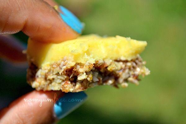 Raw Nut Free Lemon Bars (vegan, gluten free, Paleo)