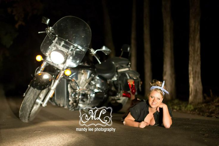 On location pin up session with a motorcycle at nighthttps://www.facebook.com/pages/Mandy-Lee-Photography/113937515377935