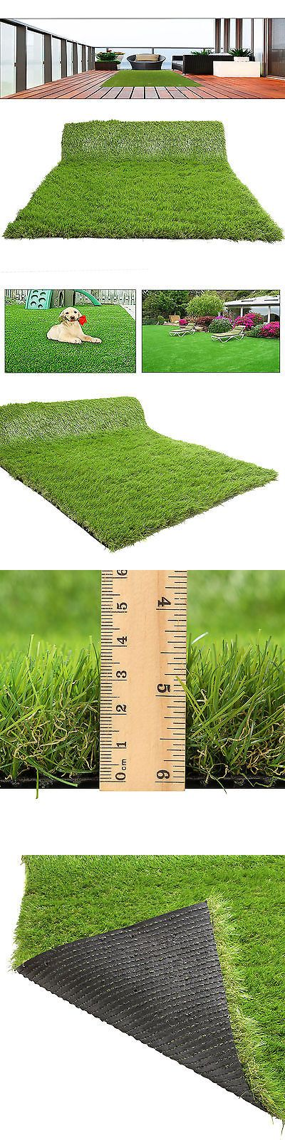 Synthetic Grass 181031: 18Mm Thick Synthetic Artificial Grass Fake Turf Lawn Mat Garden Landscape 6*3Ft -> BUY IT NOW ONLY: $44.19 on eBay!