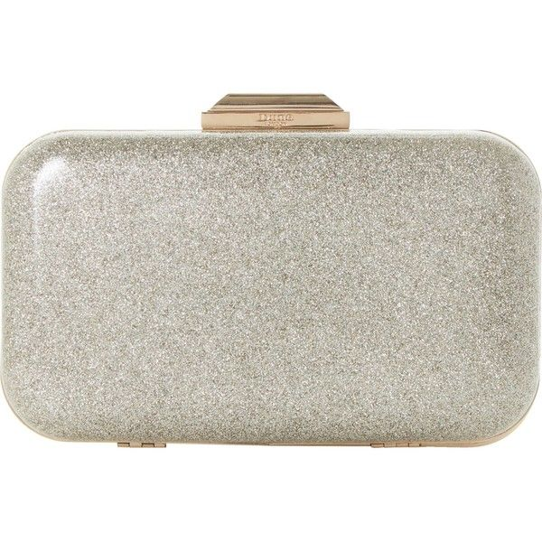 Dune Beverlie clutch bag (€41) ❤ liked on Polyvore featuring bags, handbags, clutches, chain handle handbags, glitter handbags, glitter purse, metallic purse and metallic clutches