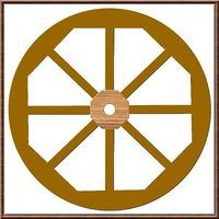 Make a wooden wagon wheel; tricky, but doable!