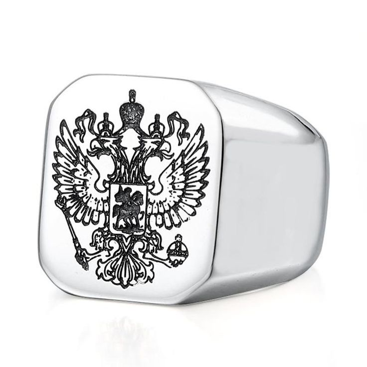 Punk Stainless Steel Double Eagle Head Finger Ring for Men at Banggood