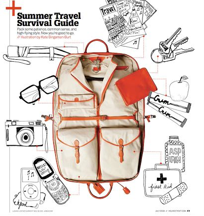 how to survive the summer, in style.: Zombies Apocalyp Survival, Summer Travel, Illustration, Kate Bingaman Burts, Graphics Design, The Offices, Editorial Photography, Survival Guide, Kate Bingamanburt