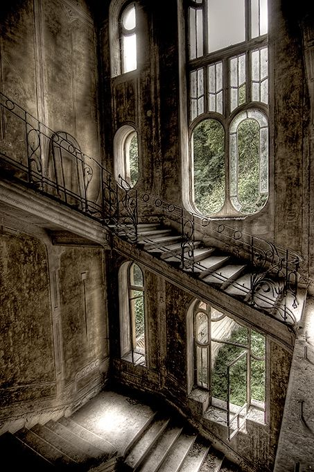 In another lifetime, I'd be floating down this staircase...