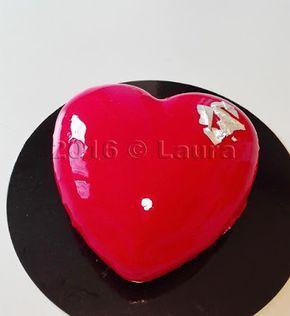 Laura in cucina: Cuore di cioccolato e lampone con glassa a specchio