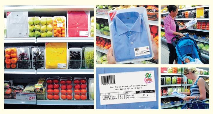 Con Ariel, frutta e verdura più fresche più a lungo #guerrilla #marketing