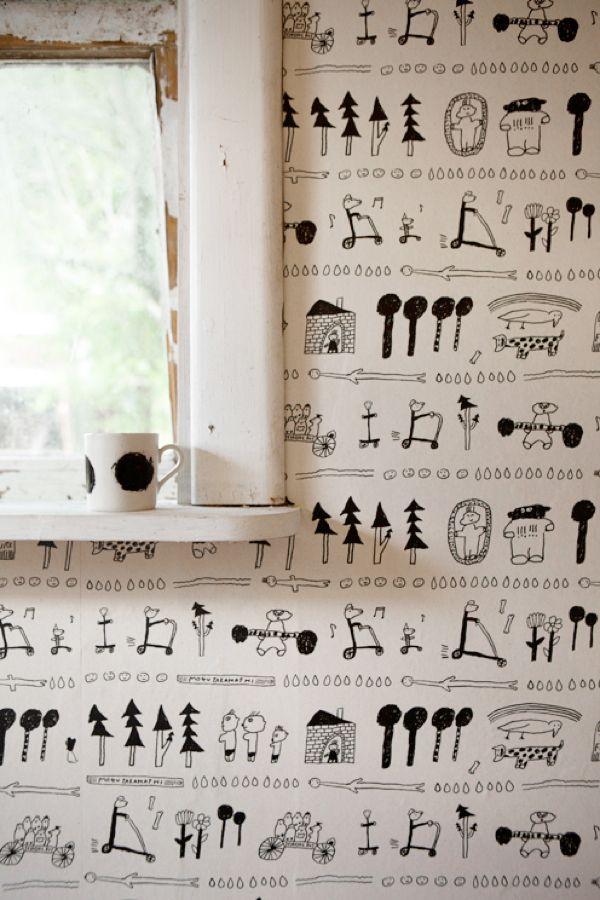 Fine Little Day. Wallpaper. Mogu Takahashi.