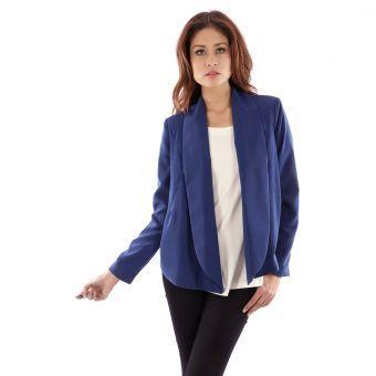 Chaqueta Le minuit Fiorella-Azul #blazer #blue #jacket #girl #style #leminuit #liniofashionco #summer #verano #fashion #moda