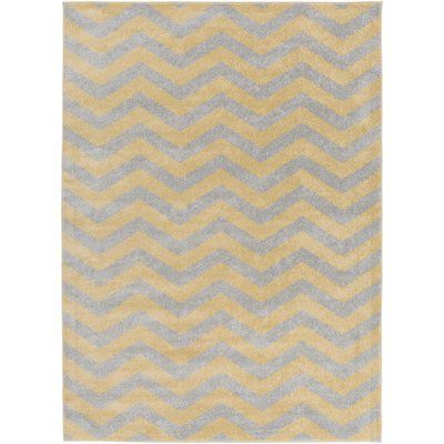 Greer Gold Chevron Area Rug