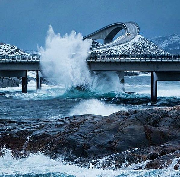 Atlantic Ocean Road, Norway.