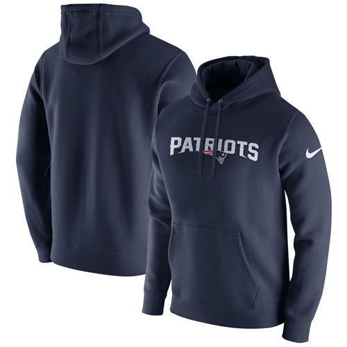 729784ac6 Men s New England Patriots Nike Navy Club Fleece Pullover Hoodie ...