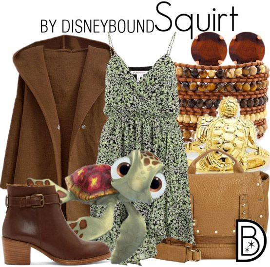 Dude! You will look righteous in this outfit inspired by Squirt form Finding Nemo.  | Disney Fashion | Disney Fashion Outfits | Disney Outfits | Disney Outfits Ideas | Disneybound Outfits |