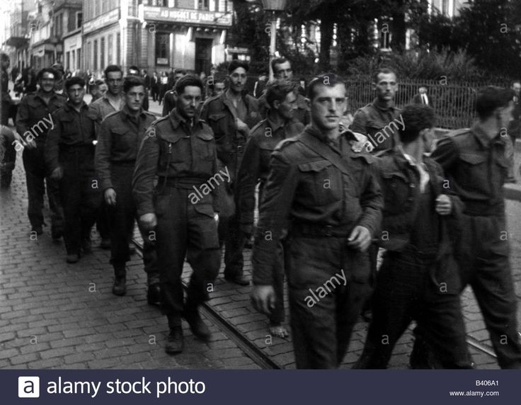 WWII, France, Dieppe, 19.8.1942, captured Canadian soldiers on their way to the prison camp, Operatio - B406A1 from Alamy's library of millions of high resolution stock photos, illustrations and vectors.