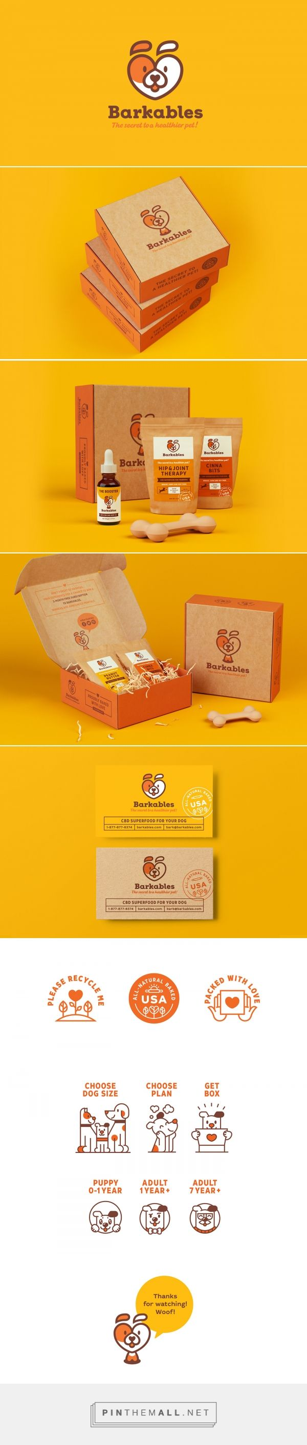 Art direction, branding and packaging for Barkables on Behance curated by Packaging Diva PD. Subscription box service for the packaging smile file : )