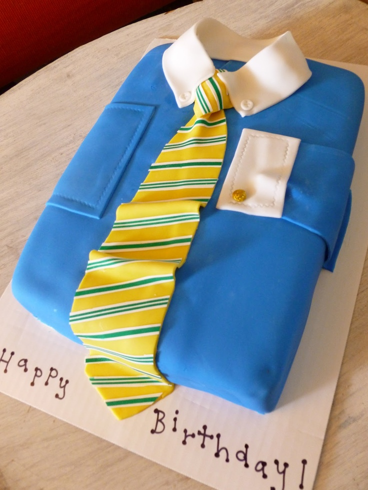 shirt and tie cake for fathers day!