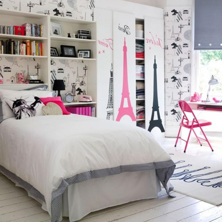 Interest Teen Room Decor Teenagers : Perfect Teenage Bedroom Ideas With  White Painting Decoration
