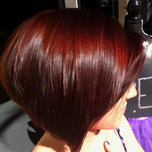 Cherry Red Color Hair Amp Makeup Pinterest Salon Color