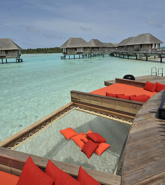 Relax in an over-the-water hammock at #ClubMed #Maldives!                                                                                                                                                     More