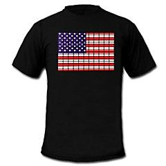 mensen+oplichten+leidde+t-shirt+Amerikaanse+vlag+patroon+van+geluid+en+muziek+equalizer+voor+de+partij+bar+raver+–+EUR+€+28.80