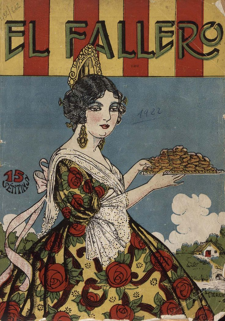 Cubierta de la revista El fallero,  nº 2, año 1922