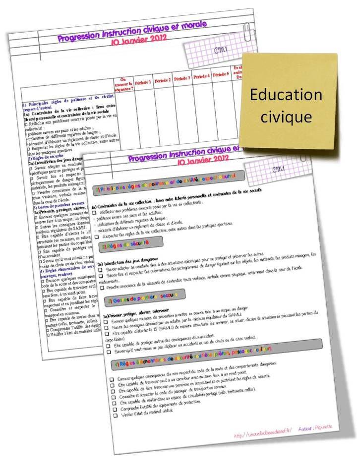 Programmations CM1/CM2 (éducation civique, géographie, maths, sciences, histoire) - la classe de stefany