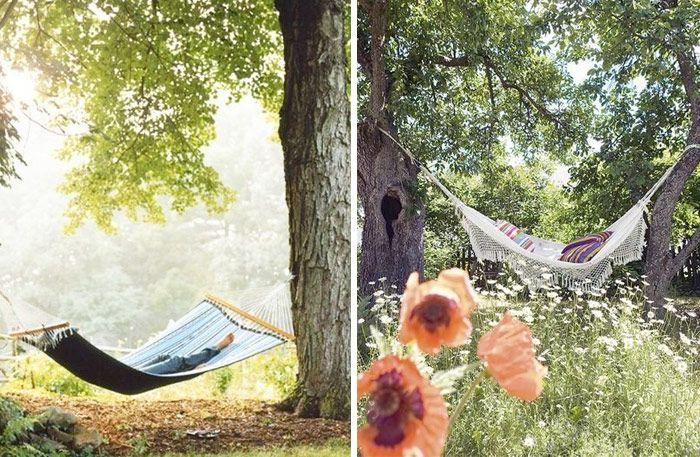 En+hängmatta+i+trädgården+–+det+blir+inte+mer+sommar+än+så