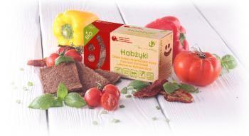 Chleb lniany niepieczony - pomidor i bazylia (70 g) Habżyki - 42 Degrees
