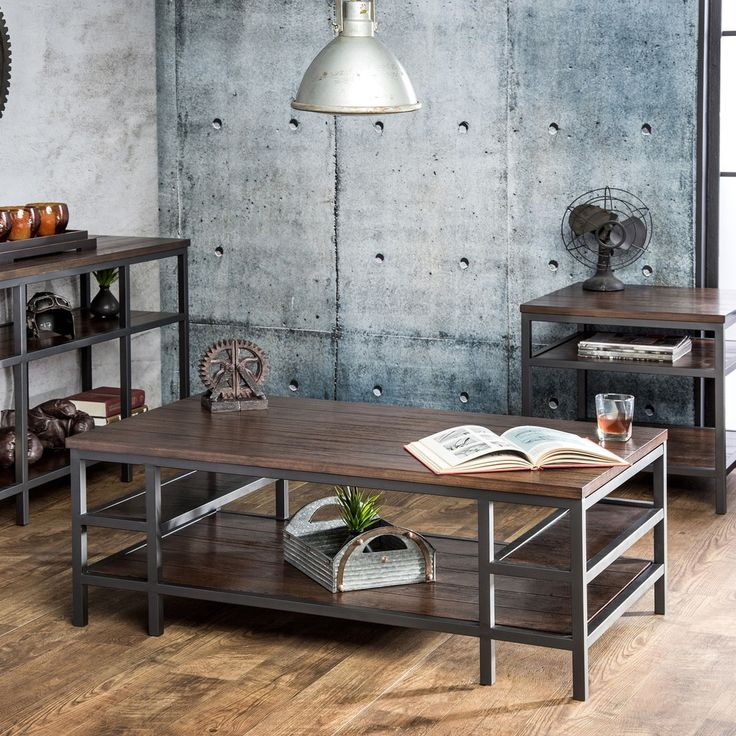 Furniture of America Payton Industrial Tiered Sofa Table | Overstock.com Shopping - The Best Deals on Coffee, Sofa & End Tables