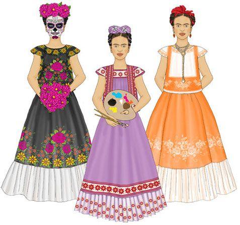 Frida Paper dolls