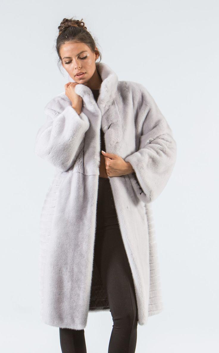 Silver Gray Mink Fur Coat     #silvergray #mink #fur #coat #real #style #realfur #elegant #haute #luxury #chic #outfit #women #classy #online #store