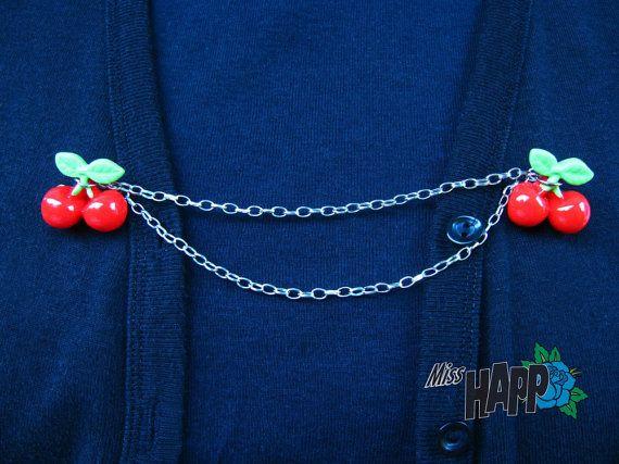 Cherry Darlin' Rockabilly Sweater clip or guard by MissHapp, $10.00