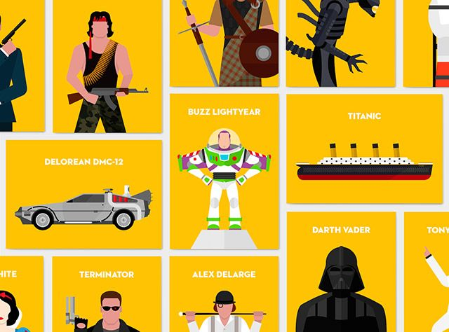 Iconic movie characters - PSD