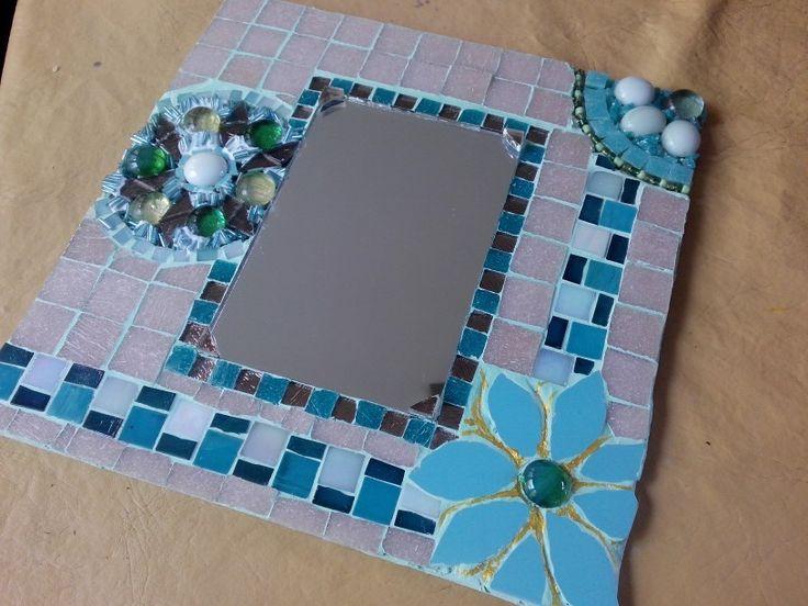 Espejo con mosaico