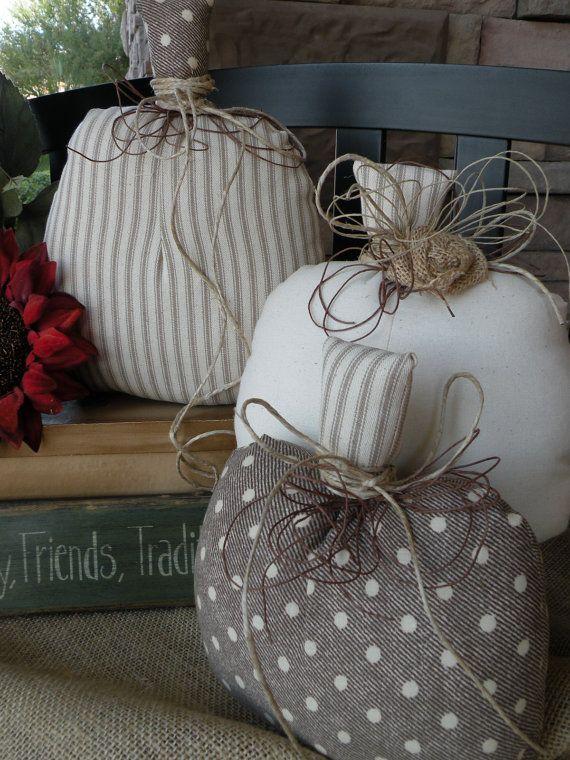 Sprinkles of Fall Fabric Pumpkins by SeasonsOfJOYByBrenda on Etsy, $39.00