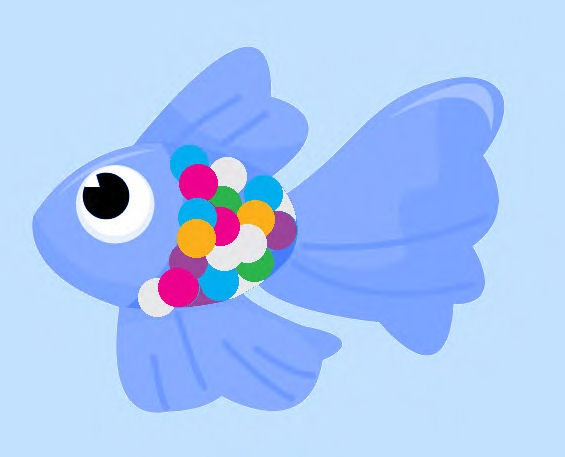 Rainbow Fish Maths Game: Maths Game pdf with simple instructions. Children move around the board following simple maths instructions to add or subtract scales from their fish boards.