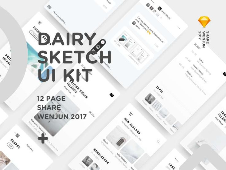 Dairy UI Kit for Sketch