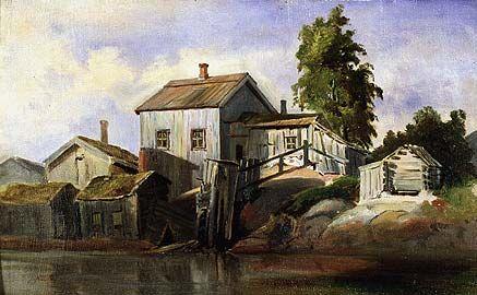 Johan Knutson, maalaus.  Katajanokka.