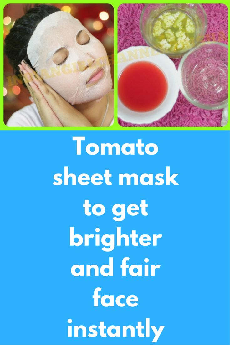 Tomato sheet mask to get brighter and fair face instantly Today I will share how can you prepare tomato peel off ask ta home that will brighten your skin and will reduce dark spots on your skin Best part is that you can do this daily First take 1 ripe tomato and grate it to get tomato pulp In this add juice of half lemon …