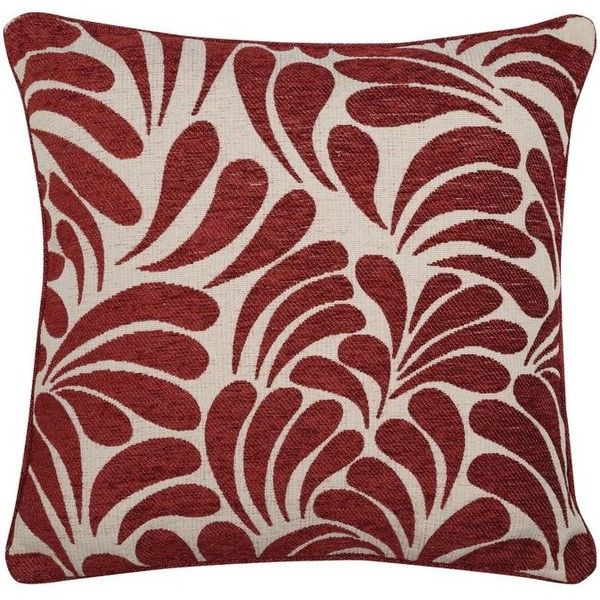 M&Co Chenille Leaf Pattern Cushion ($24) ❤ liked on Polyvore featuring home, home decor, throw pillows, burgundy, red accent pillows, brown accent pillows, burgundy throw pillows, brown toss pillows and red home accessories